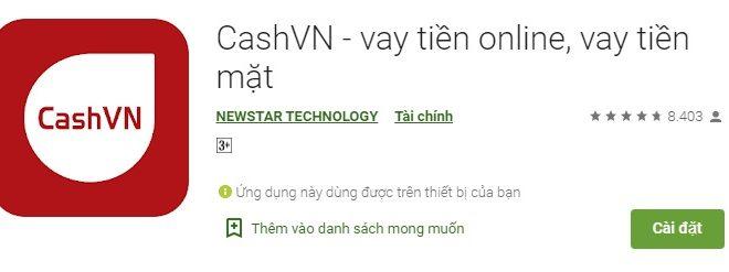 CashVN vay tiền online thật nhanh và tiện lợi